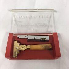 Eversharp Schick Injector Razor W/ Box vintage retro marbled celluloid