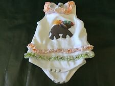 MUDPIE BABY 9-12 MONTHS ELEPHANT BABY CHICK OUTFIT  CUTE