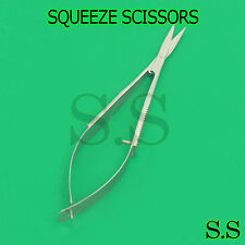 """4"""" spring SQUEEZE Scissors STRAIGHT embroidery"""