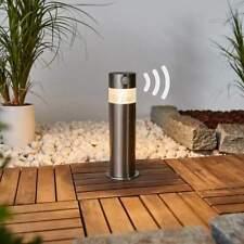 LED Solarleuchte Kalypso Lampenwelt Sockellampe Edelstahl Bewegungmelder Außen