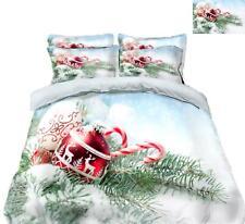 3D Ball Reindeer N480 Christmas Quilt Duvet Cover Xmas Bed Pillowcases Fay