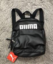 NWT PUMA Women's Evercat Royale Backpack Black Silver Bookbag Faux Leather Mini