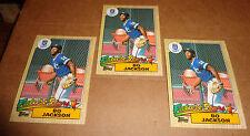BO JACKSON--1987 TOPPS ROOKIE CARD--THREE CARDS--#170--MINT TO NEAR MINT--L@@K