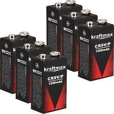 6x Rauchmelder 9V Lithium Batterien für Feuermelder / 9v Block Batterie 10 Jahre