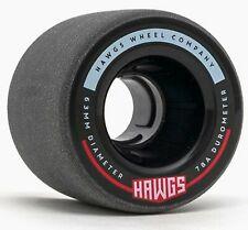 """HAWGS """"Fattie"""" Longboard Wheels 63mm 78a BLACK Skateboard Slide Carve LANDYACHTZ"""