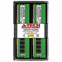 A-Tech 16GB 2x 8GB DDR4 2666 PC4-21300 Desktop 288-Pin DIMM Memory RAM Kit 16G