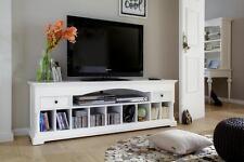 TV Lowboard Tisch Schrank Möbel Landhaus Landhausstil Shabby Chic weiß massiv