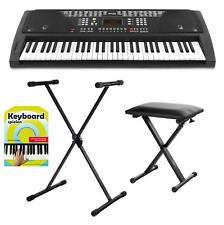 61 Tasten Keyboard Ständer Stativ Piano Sitzbank Schule E-Piano Synthesizer Set