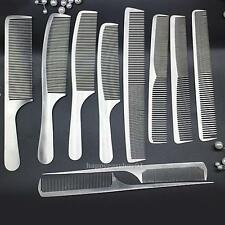 10 Stainless Steel Hair Styling Comb Set Professional Hairdressing Brush Barbers