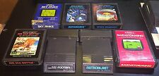 7 Atari Games All with Manuals Space Invaders Air Sea Battle Super Sky Jinks