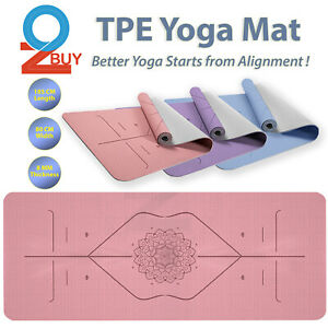 8mm Wide Yoga Mat TPE Non-slip Exercise Fitness Pilate Gym Pad Position Line
