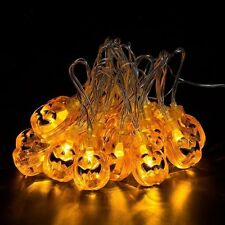 Pumpkin String Lights Halloween Decoration Outdoor Party Decor 30 LED Light