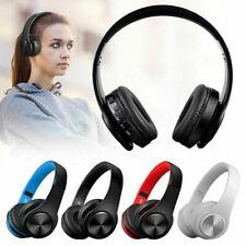 Foldable Wireless Bluetooth Headphone Headset Stereo Super Bass Earphone Black