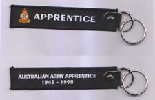 APPRENTICE AUSTRALIAN ARMY APPRENTICE 1948 - 1998 KEY TAG WITH RING 25MM X 125MM