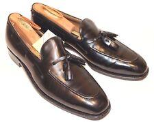 JOHNSTON MURPHY Aristocraft Men BLACK Tassel Loafer Shoe Leather USA 9.5B Narrow