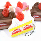 Cute Phone Straps Shortcake Scented Slow Rising Cream Strawberry Toy Squishy