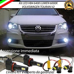 KIT FULL LED VW TOURAN V2 LAMPADE HB4 FENDINEBBIA CANBUS 6400 LUMEN 6000K