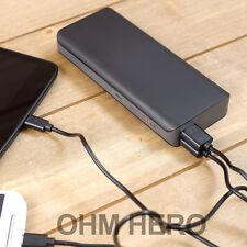 Power Bank 10000mAh Caricabatterie Portatile Nero per iPhone 4 4s 5 5s iPad