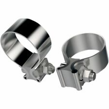 Stainless Steel Exhaust Clamp 1.75 inch For Harley Davidson Pair