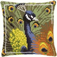 Vervaco - Cross Stitch Cushion Front Kit - Peacock  - PN-0145700