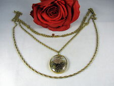 tone Rose Necklace Cat Rescue Gorgeous 1928 2 Strand gold