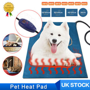 Waterproof Pet Dog Puppy Electric Heated Whelping Bed Cover Heat Pad Heater Mat