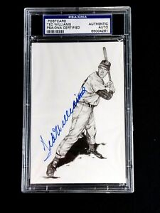 TED WILLIAMS PSA/DNA CERTIFIED SIGNED POSTCARD 1989 THUMPER AUTOGRAPHED MINT