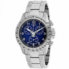 Tissot V8 Blue Dial Chronograph Mens Watch T1064171104200