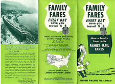 Union Pacific Railroad 1965 Pamphlet How to Save on Family Rail Fares Photos