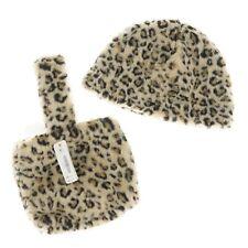Set of 2 Gymboree Girls Accessories Leopard Print Kids Hat & Purse Bag XS/S, M/L