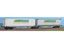 ACME 40297 H0 Carro intermodale articolato Sggmrs 90' Wascosa con casse Ambrogio