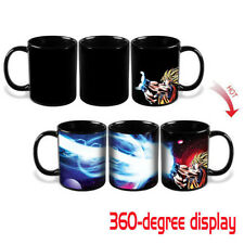 New Dragon Ball Z SSJ Goku Heat Reactive Color Changing Ceramic Coffee Mug Cup