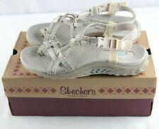 Skechers Reggae Happy Rainbow Sandals Sz 7 Natural Tan Womens Shoes