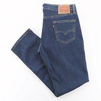 LEVI'S 511 Blue Denim Slim Straight Jeans Mens W34 L32