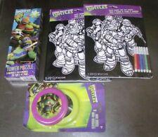 Lot of 5 NEW Teenage Mutant Ninja Turtles Puzzle 2 Mini Discs 2 Coloring Sheets