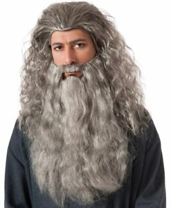 Gandalf Wig and Beard - The Hobbit Lord of the Rings Lotr Wizard Sorcerer Grey