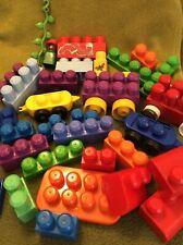 VTG Mega Bloks My First Builders Vehicle-Rare Colors/Blocks/Figure Lot