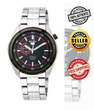 SEIKO 5 Sports Automatic SSA069K1 Men 24-Hour Black Dial Stainless Steel Watch