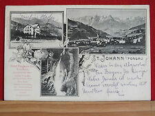 3-Bild-Karte - St. Johann im Pongau - Hotel Pongauer Hof von A. Reich - gel 1904