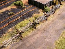 HO Roco Minitank Parts Set of 20 Barbed Wire Barricades Custom Detailed #DP45