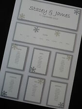 A3 Personalised Wedding Table Seating Plan - Snowflake Christmas Decoration