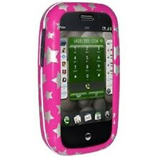 Amzer Rubberized Snap On Crystal Hard Case Cover For Palm Pre Plus - Stars Pink