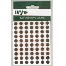 980 Black 8mm Self Adhesive Round Dot Labels - 232660 - Made In The UK By Ivy