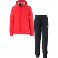 841f363b312 Adidas Knitted Survêtement fille 5-6 ans Top Bright Red white Bottom Black