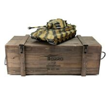1:16 Torro King Tiger Henschel Turret RC Tank 2.4GHz Airsoft Metal Edition PRO