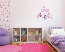 Butterfly Vinyl Wall Art Kids Girls Home Bedroom Playroom Decorate Customize new