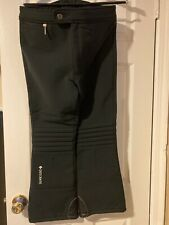 DESCENTE SKI PANTS Size 36 Black Padded Downhill Stretch Racing