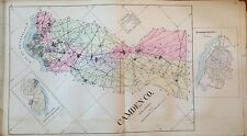 ORIGINAL 1905 CAMDEN COUNTY NEW JERSEY GLOUCESTER TOWNSHIP ATLAS MAP