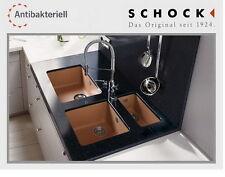 SCHOCK Idea N-100L Corian GALAXY INKA Terracotta 230tief  Einbau- Unterbaubecken