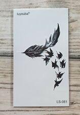 *UK SELLER* Swallow Bird TEMPORARY TATTOOWaterproof Body Art /-a89-/